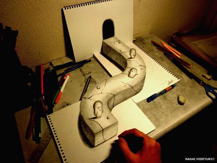 Nagai Hideyuki 3d drawings