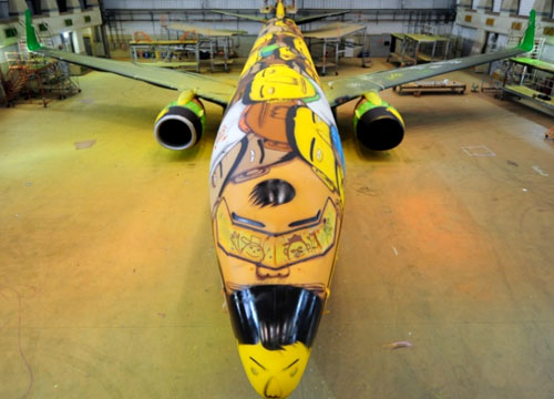 CRAZY NEW PLANE FOR THE BRAZILIAN WORLD CUP TEAM
