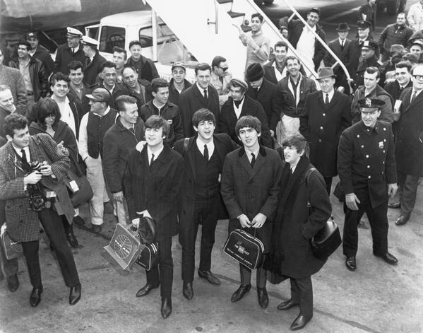 50 years ago today The Beatles arrived in the USA for their first US tour