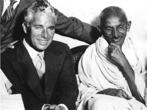 Charlie Chaplin and Mahatma Gandhi, 1931