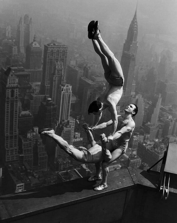 Empire State Building acrobats