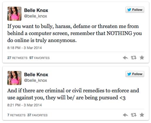 Belle Knox Twitter