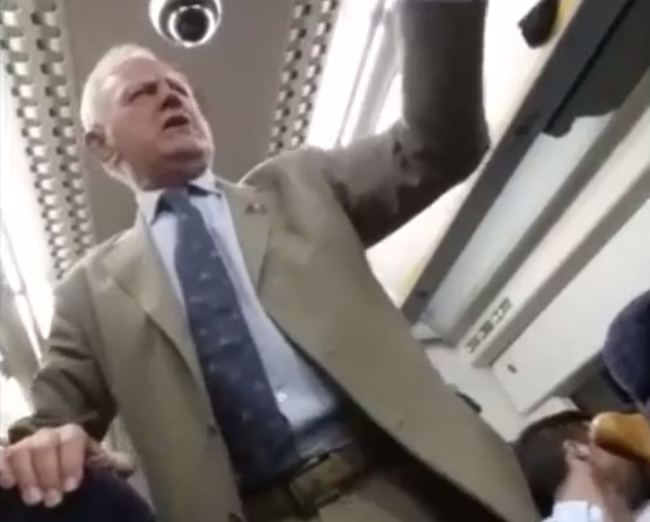 Drunk Old Man Conducts Huge Singalong in Train Full of Strangers!