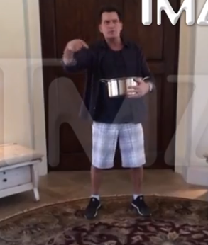 Charlie Sheen Ice Bucket Challenge – WTF Is In His Bucket!?